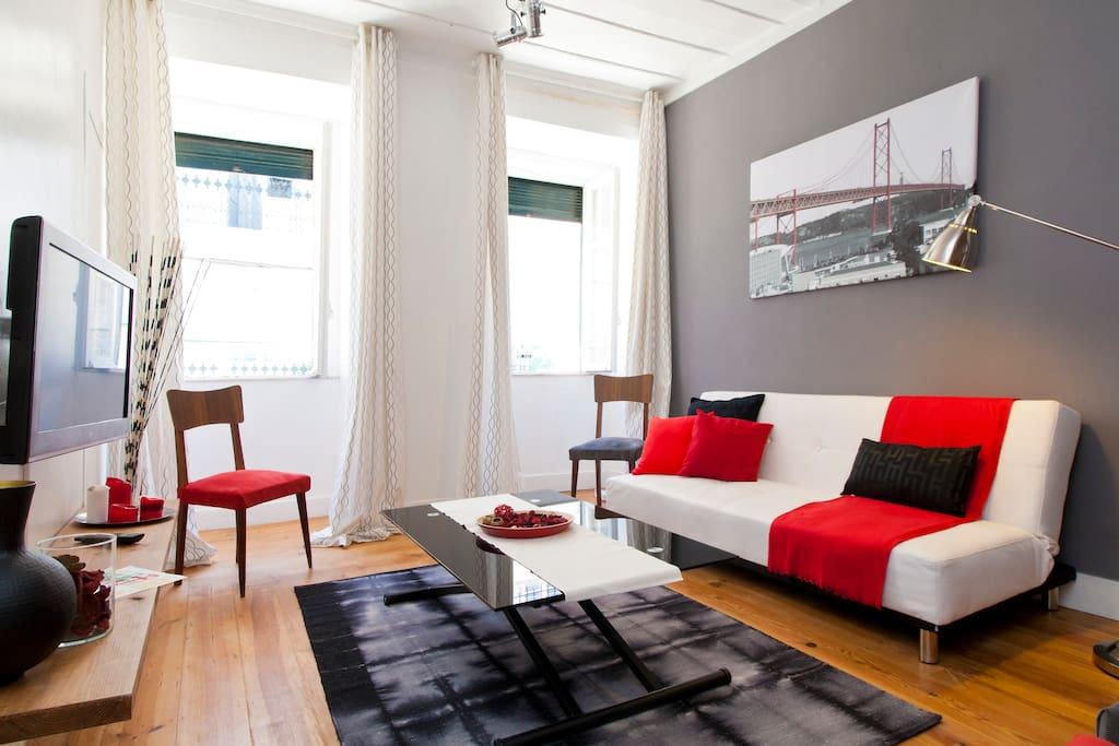 appartement 2 chambres sant 39 anna alcantara lisbonne appartements louer lisbonne. Black Bedroom Furniture Sets. Home Design Ideas