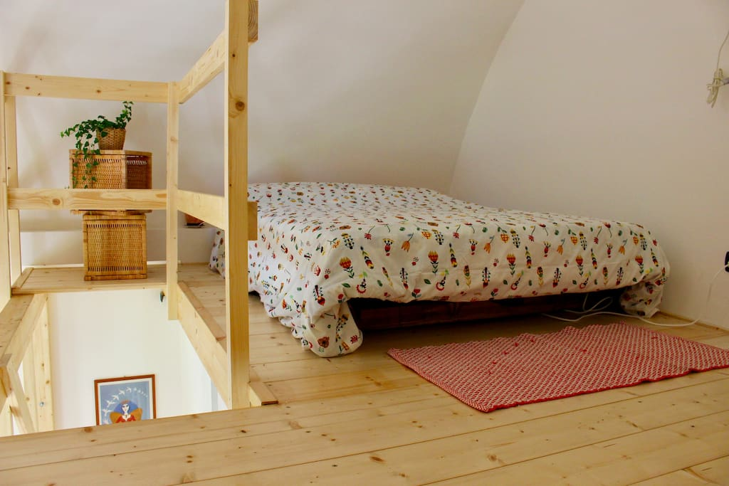 Your double bed on the wood