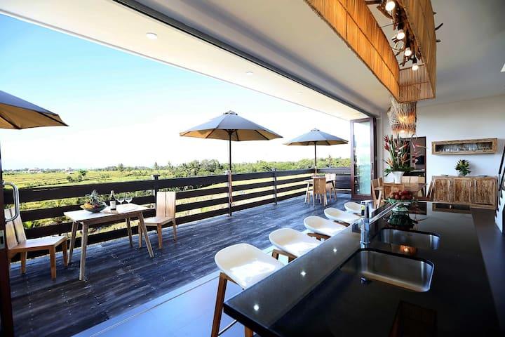 Canggu William's Place apartment Balcony View