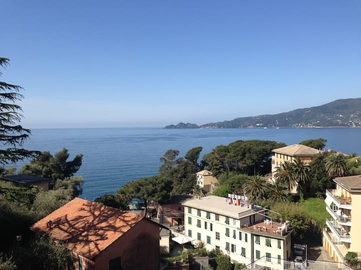 Zoagli overlooking Portofino Gulf