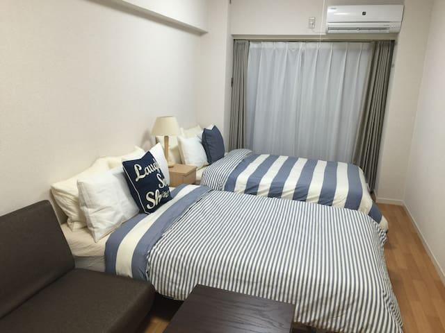 Near Shinsaibashi/Namba/Umeda. Good Location! - Ōsaka-shi - Apartment