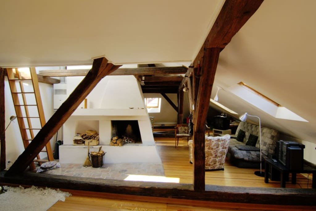 Loft Apartment - spacious, sunny, with beams and rafters