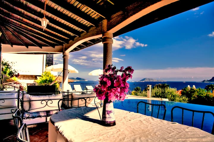 Villa 1 with Private Pool & Sea View - Kaş
