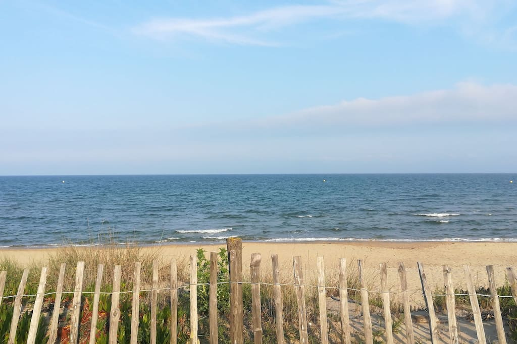 plage naturiste à 15 mn à pieds