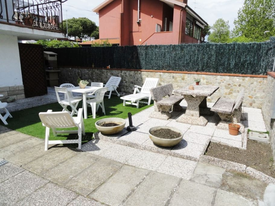 This is our garden space for chilling out and a great space for children
