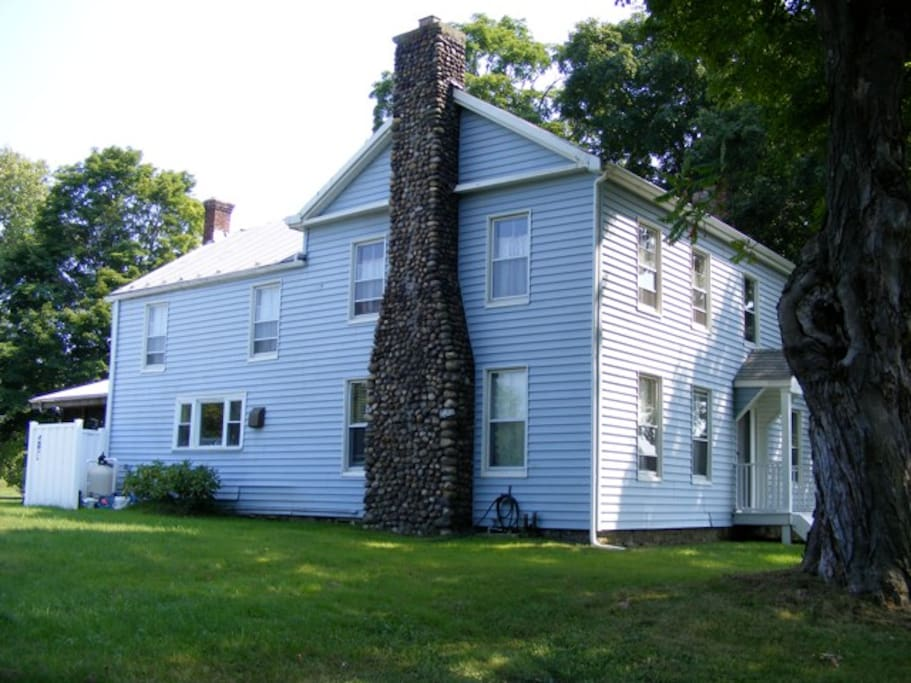 This house is a center hall coloniel built with wide board floors in the late 1700s.  Beautifully restored.