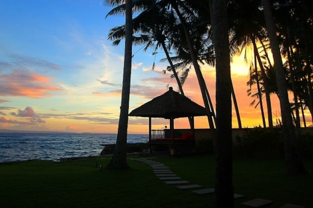 Great Sunset and Ocean Views from All Parts of Villa Anjani