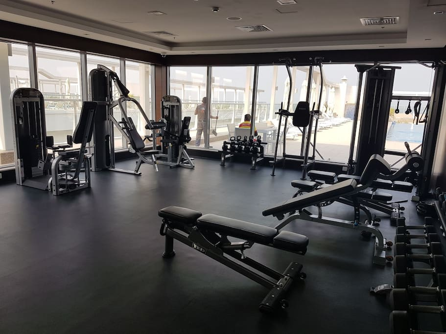 fully equipped gym ,enjoy ocean view while working out in gym