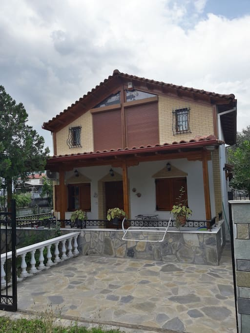 front view of the chalet