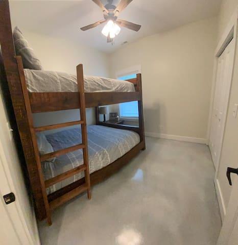 Bedroom #2 Queen bunk beds.