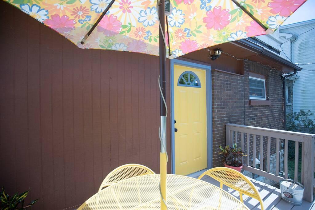 Rear Deck off kitchen entry