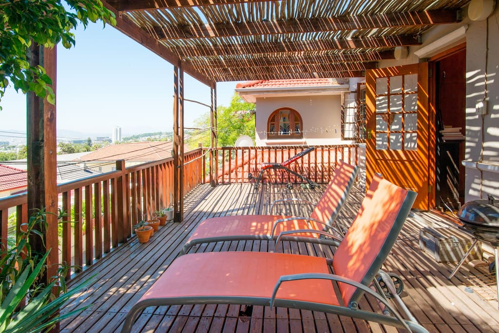 Huge Terrace With Deck Loungers
