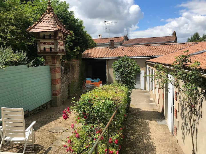 Studio in La Gaubretière, with shared pool, enclosed garden and WiFi