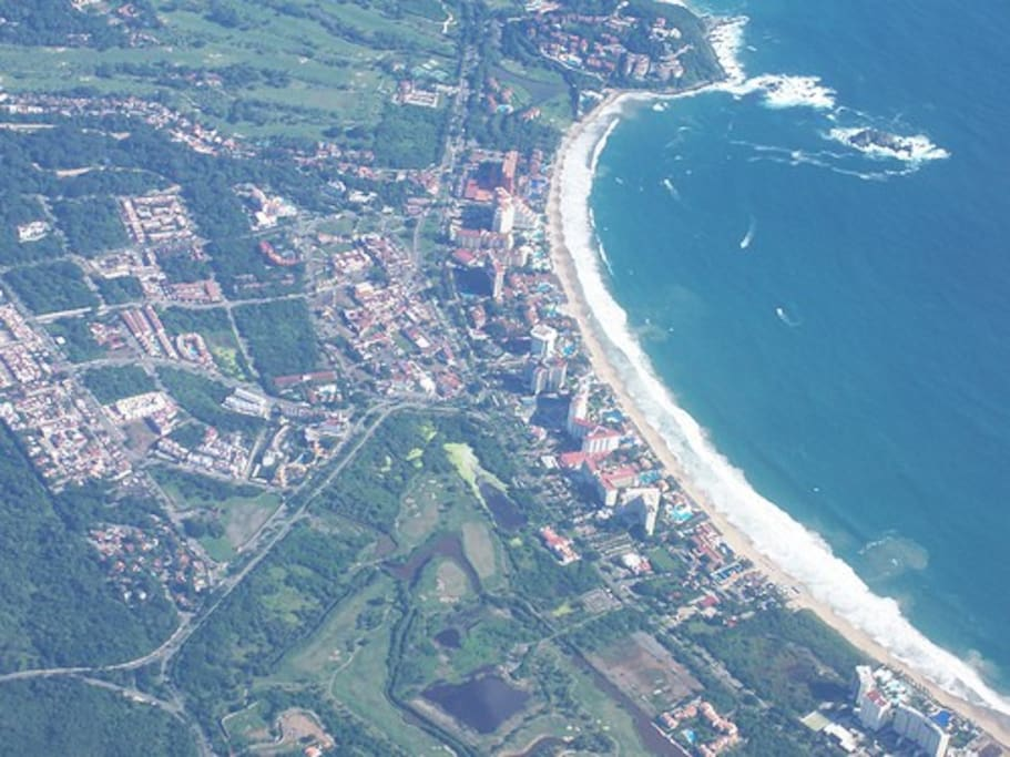 Aerial view of Ixtapa