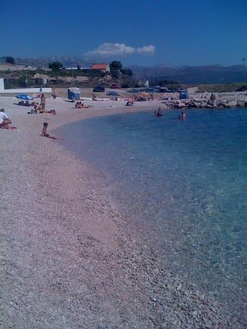 Beach Znjan - Crystal clear sea :)