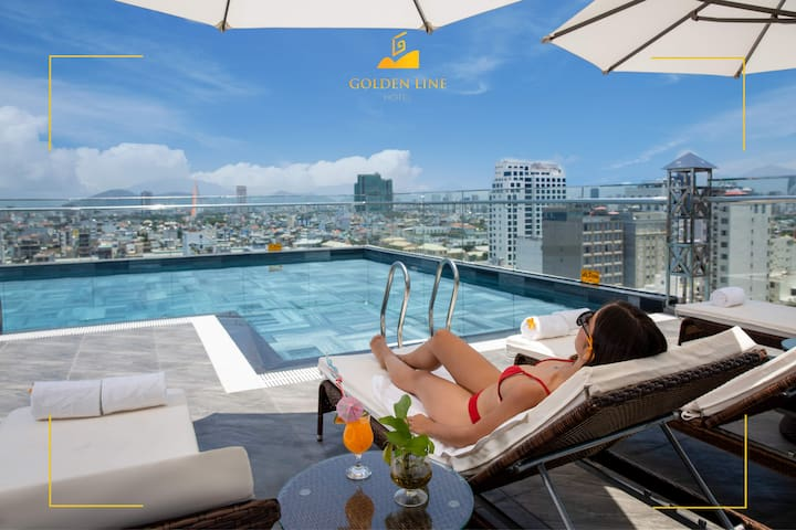 Double or Twin bed⭐ Pool⭐Golden Line Hotel Da Nang