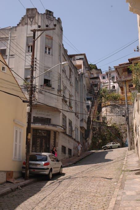 apatrment block from street