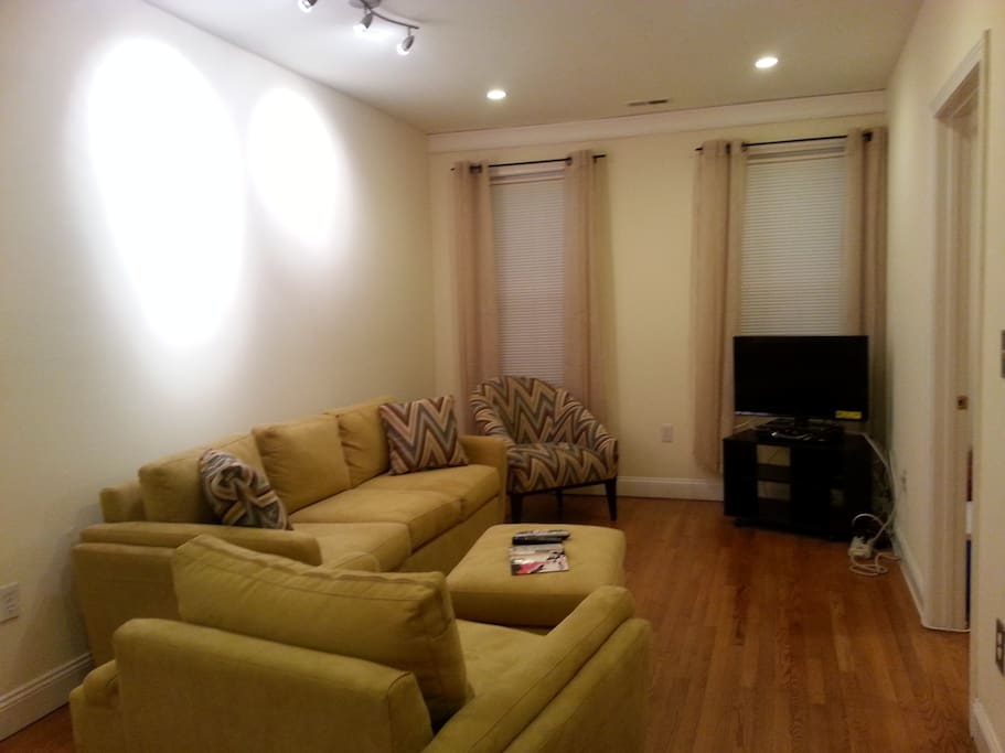 Living room with cable access