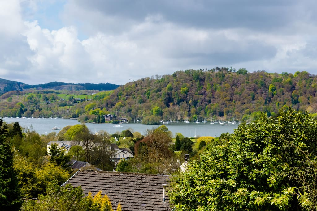 Enjoy this incredible view from Claife Heights, our standard double room on the first floor of Blenheim Lodge Bed and Breakfast. Here is Lake Windermere and fells in all their glory.