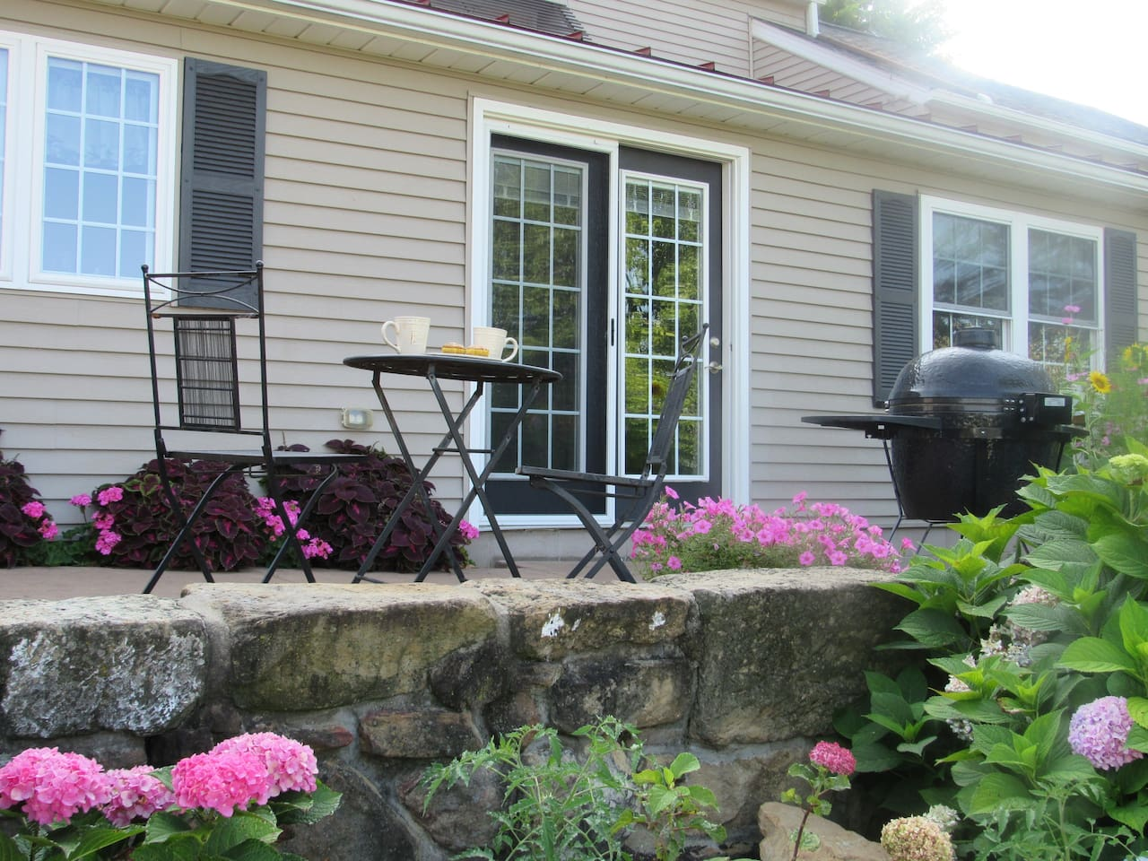 Enjoy your morning coffee on the patio