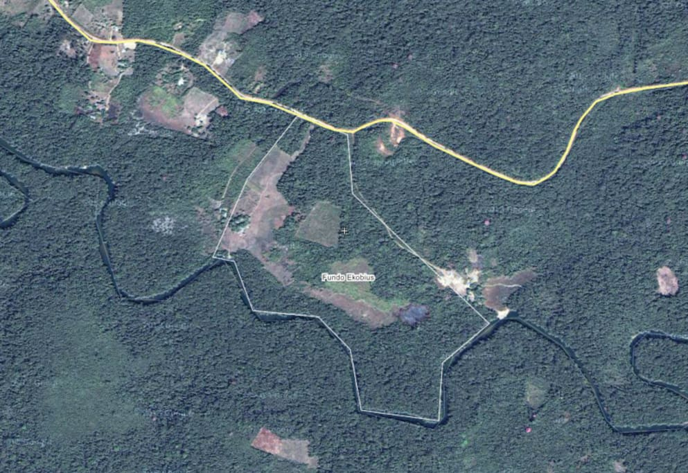This is the best aerial map we could locate to illustrate our property plat. There are more maps available on Facebook.