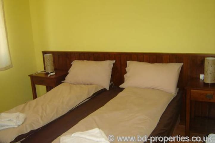 or  two single beds
