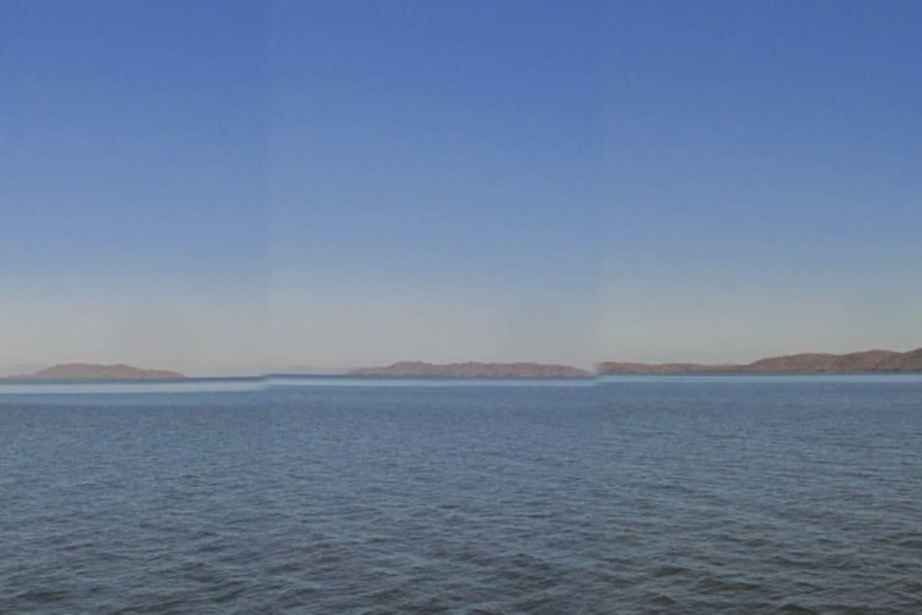in order from left to right: Isla Venado - Isla Bejuco - Isla Caballo