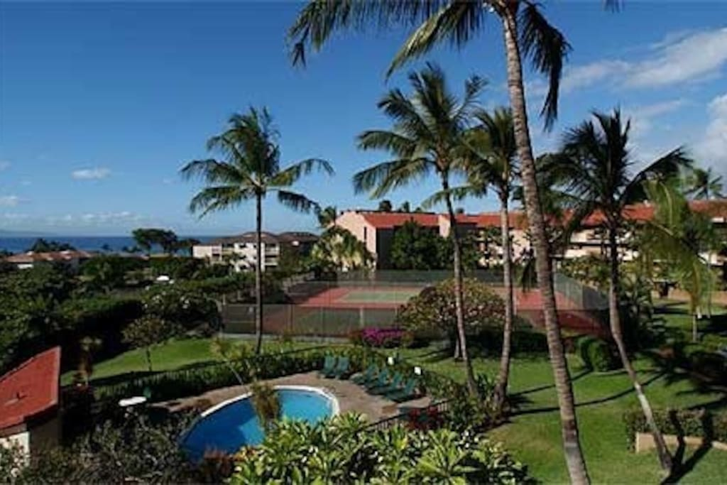 Maui Vista Resort with its lush, tropical grounds