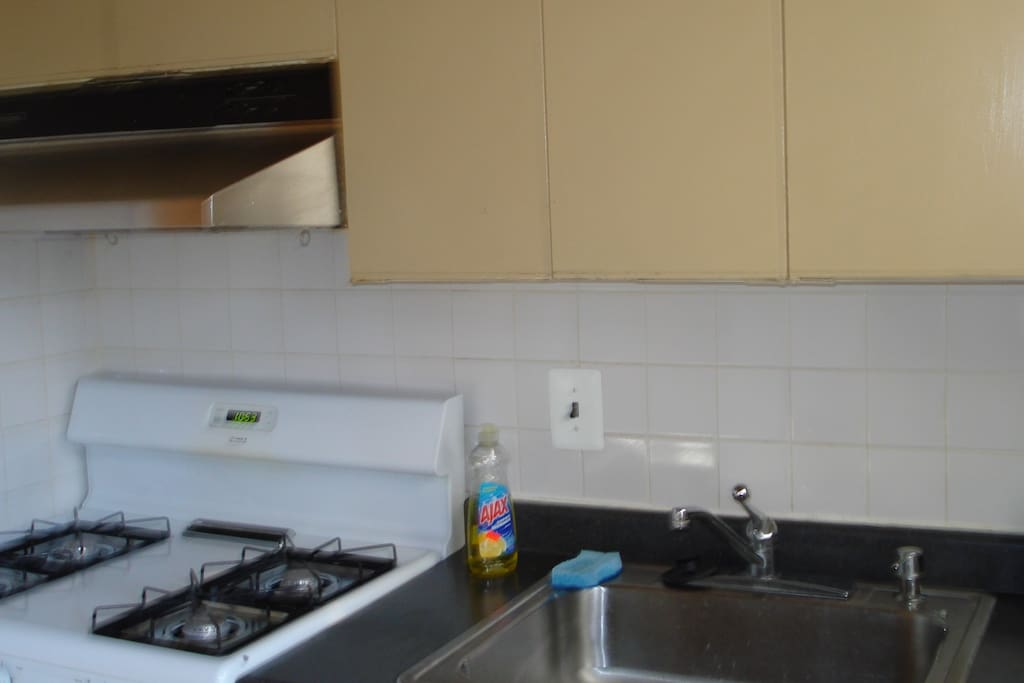 kitchenette with gas stove