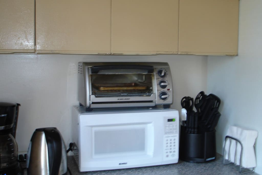 Kitchenette with some of the available appliances