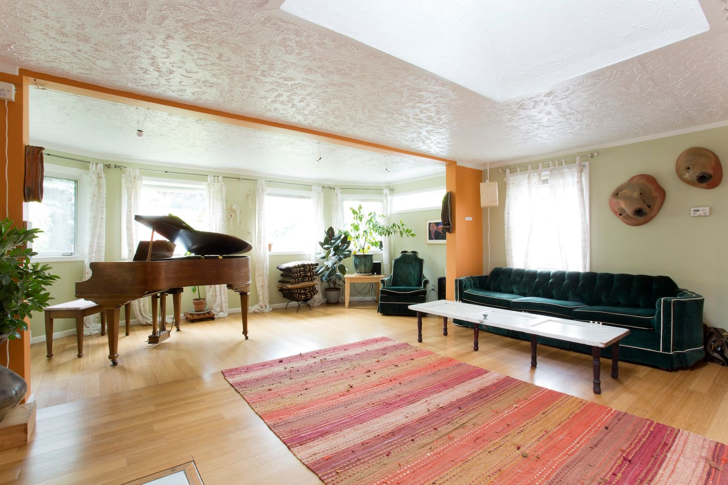 Living Room Gallery and Musical Space. We host House-Concerts and Art Shows here...