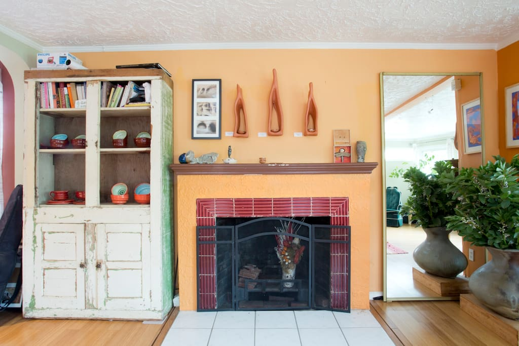 Living Room Gallery with Candle-Lit Altars