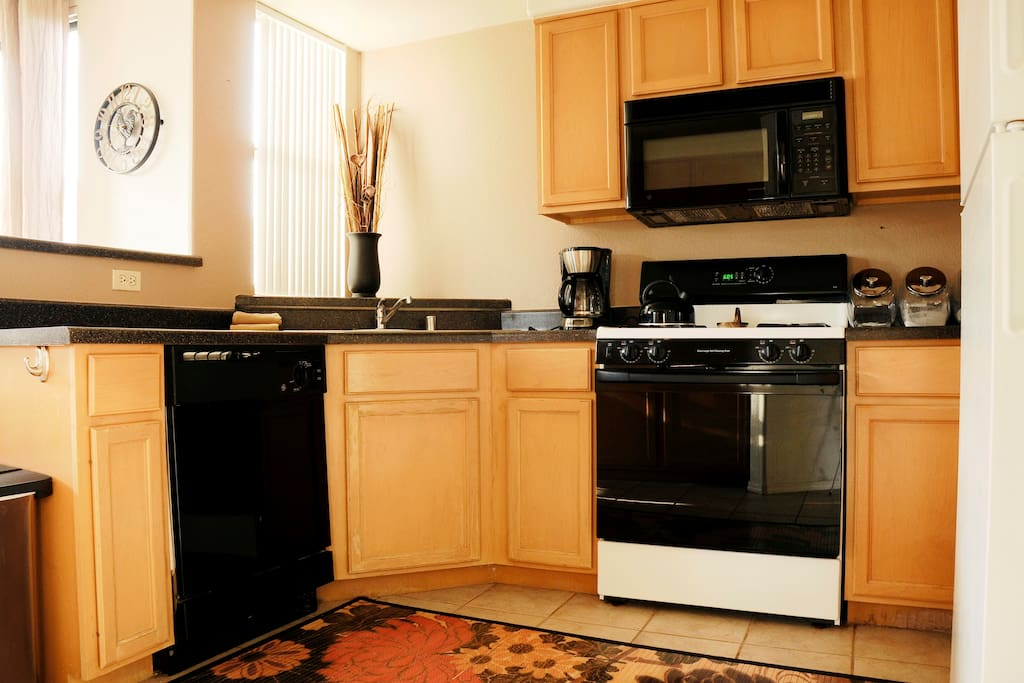 Kitchen- fully equipped with gas stove