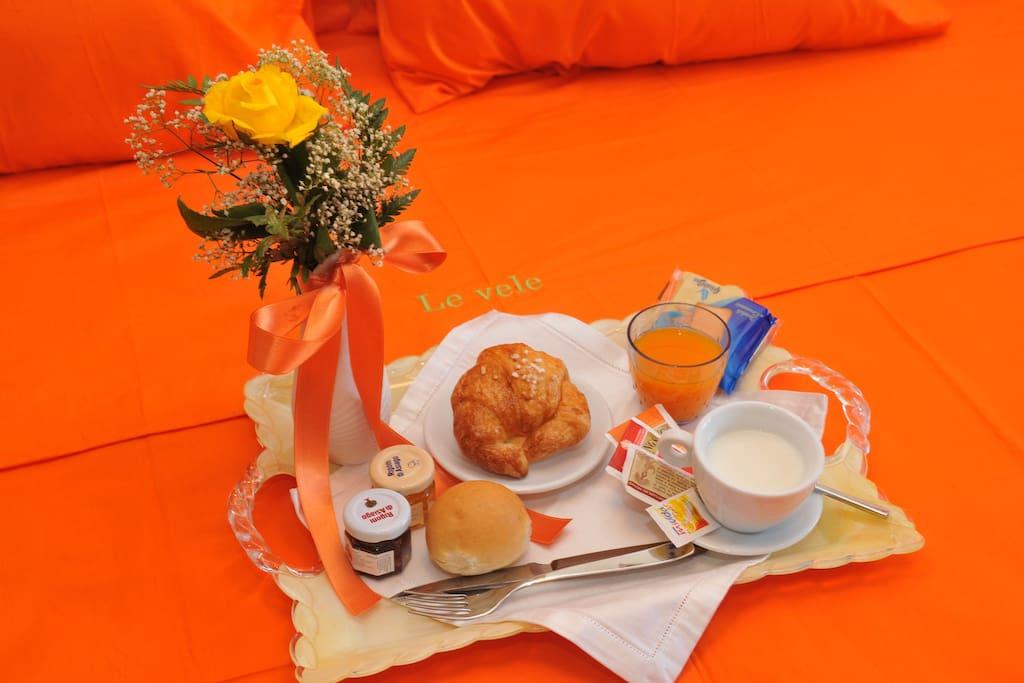 Letto con colazione