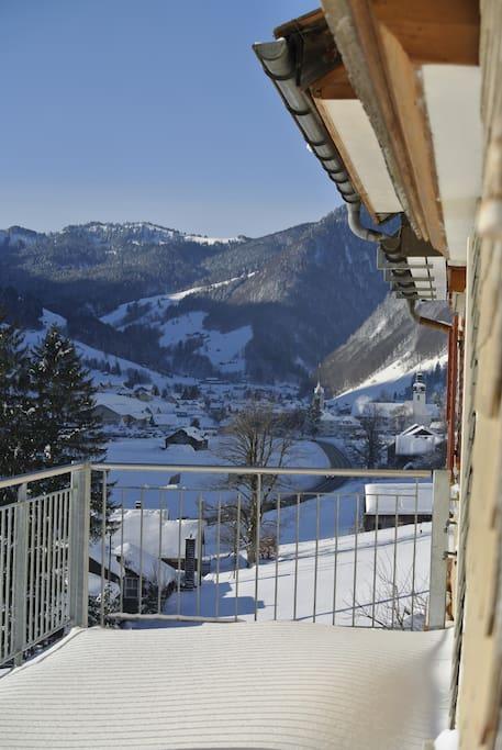 Blick vom Balkon Richtung Alt St. Johann