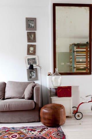 happy sunny vintage style house
