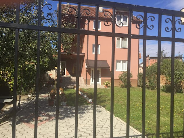 A sun bathed house near Brezovica