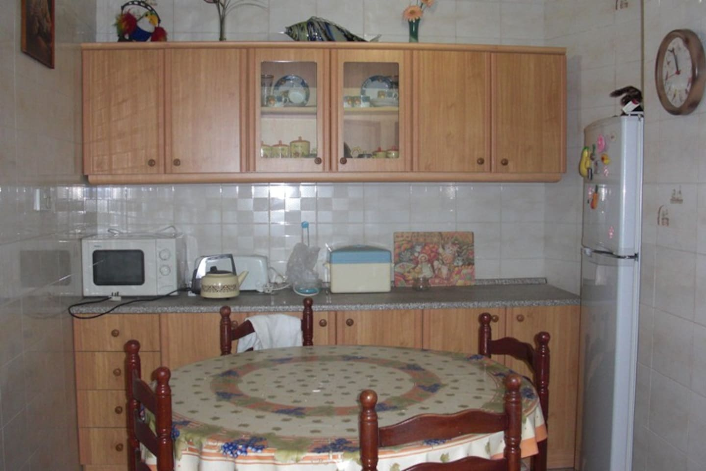 Kitchen with a spare toilet