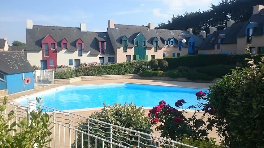 Studio cabine Rothéneuf - résidence avec piscine