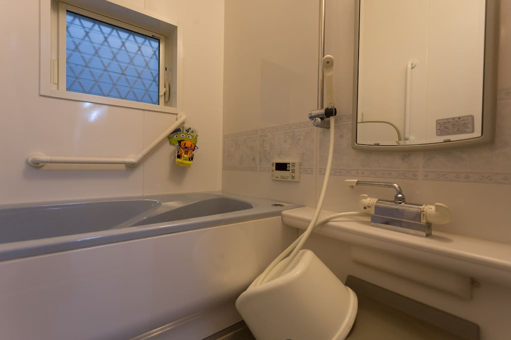 Hot bath, Very beautiful shower room.