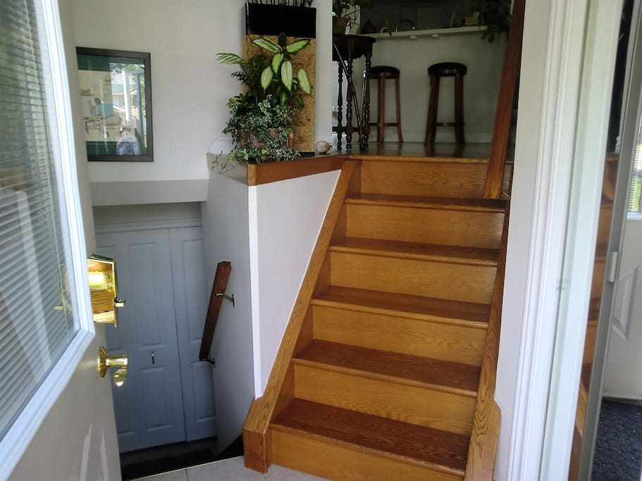 Beautiful hardwood stairs