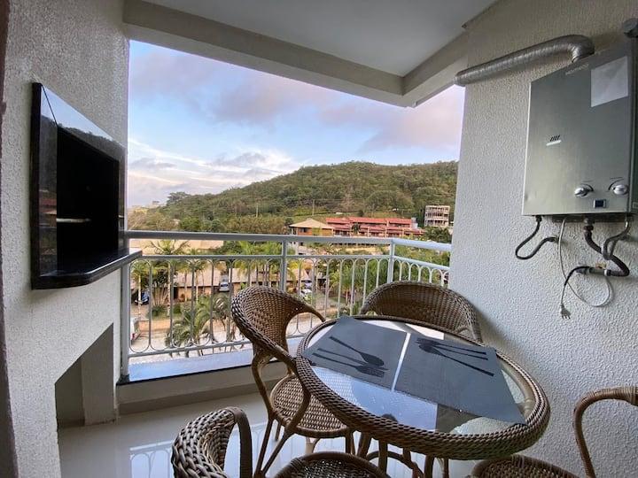 Flat em Bombinhas localizado na praia de Bombas