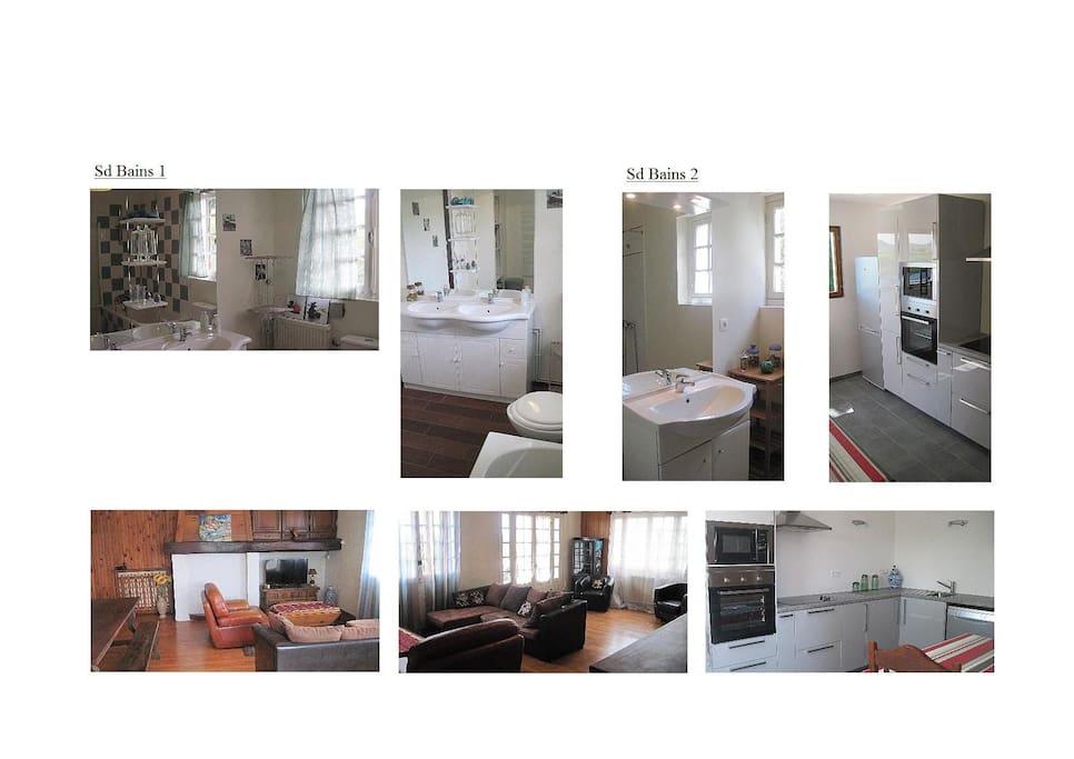 Un séjour spacieux et deux salles de bain.