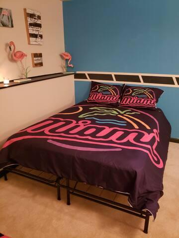 Queen firm  bed