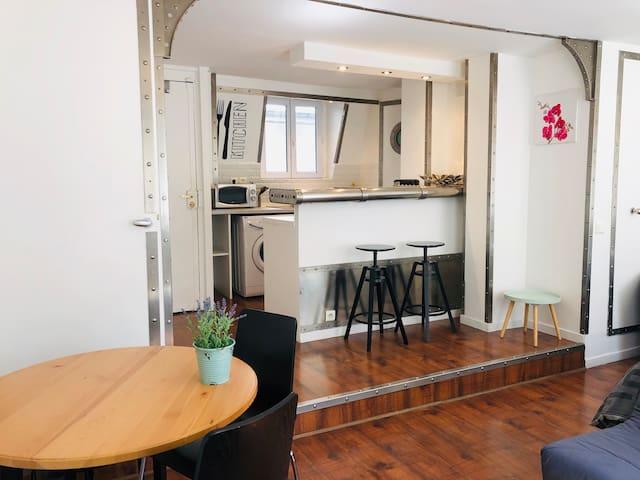 Très beau petit Loft à Paris-Centre