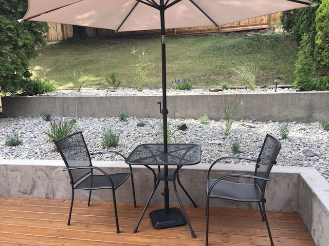 Your patio - nice sort for your morning coffee or evening wine.