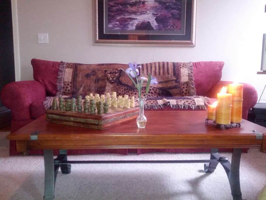 Sit in a well lit, cozy room and enjoy a good book or a game of chess.