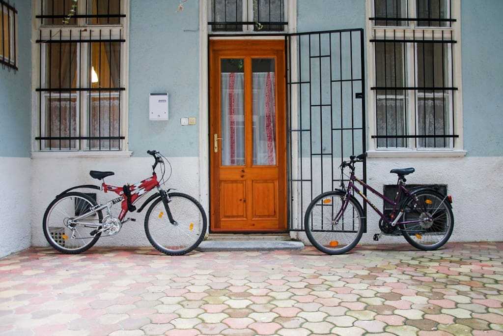 Courtyard: and Bikes