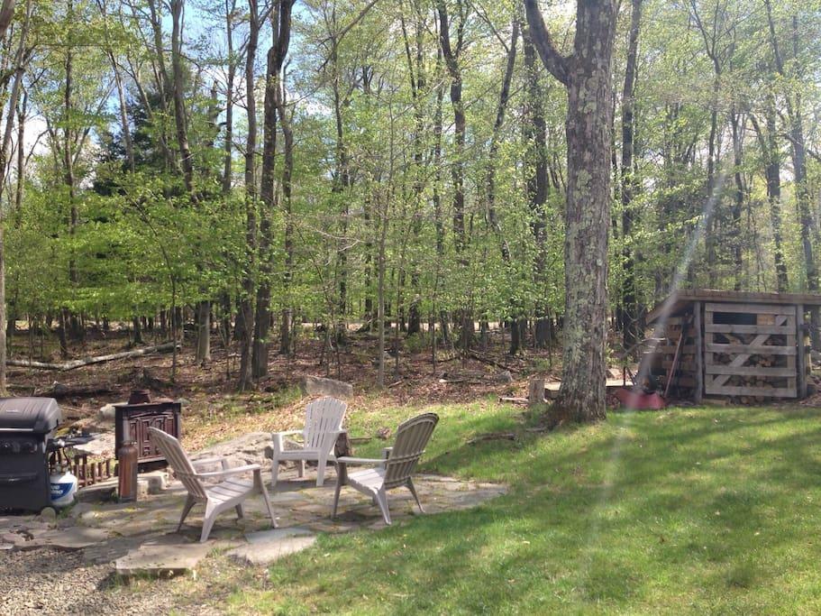 Poconos Cabin with Wood Fired Sauna