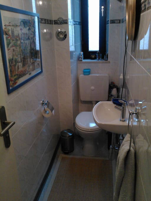Toilet, separate from bathroom. The whole flat is cleaned regularly by my very trustworthy cleaning lady.